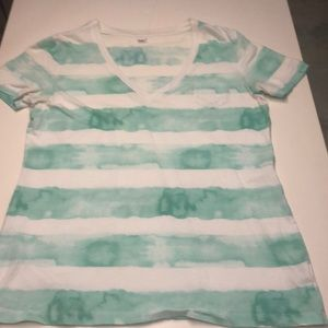 GAP stripped tie-dye t-shirt
